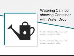 Watering Can Icon Showing Container With Water Drop