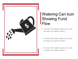 Watering Can Icon Showing Fund Flow
