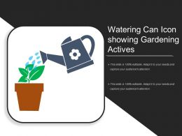 Watering Can Icon Showing Gardening Activies