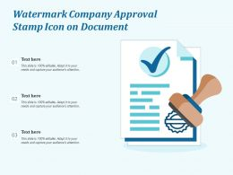 Watermark Company Approval Stamp Icon On Document