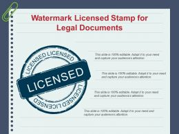 Watermark Licensed Stamp For Legal Documents