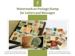 Watermark On Postage Stamp For Letters And Messages