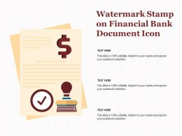 Watermark Stamp On Financial Bank Document Icon