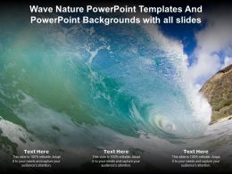Wave Nature Powerpoint Templates And Powerpoint Backgrounds With All Slides