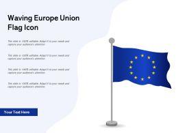 Waving Europe Union Flag Icon