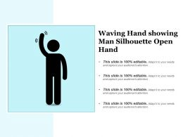Waving Hand Showing Man Silhouette Open Hand