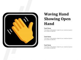 Waving Hand Showing Open Hand