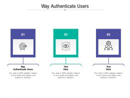 Way Authenticate Users Ppt Powerpoint Presentation Gallery Graphics Template Cpb