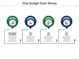 Way Budget Save Money Ppt Powerpoint Presentation Styles Inspiration Cpb