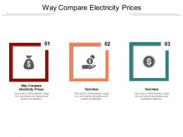 Way Compare Electricity Prices Ppt Powerpoint Presentation Model Gallery Cpb