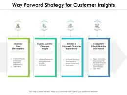 Way Forward Strategy For Customer Insights