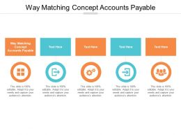 Way Matching Concept Accounts Payable Ppt Powerpoint Presentation Infographics Model Cpb