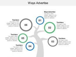 Ways Advertise Ppt Powerpoint Presentation Gallery Visual Aids Cpb