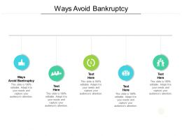 Ways Avoid Bankruptcy Ppt Powerpoint Presentation Infographic Template Slide Portrait Cpb