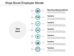 Ways Boost Employee Morale Ppt Powerpoint Presentation Slides Outline Cpb