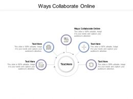 Ways Collaborate Online Ppt Powerpoint Presentation Show Diagrams Cpb
