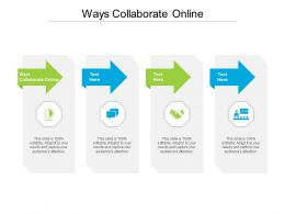 Ways Collaborate Online Ppt Powerpoint Presentation Summary Inspiration Cpb