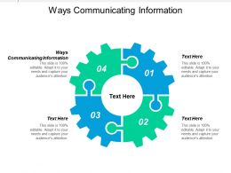 Ways Communicating Information Ppt Powerpoint Presentation Infographics Display Cpb