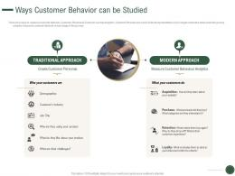 Ways Customer Behavior Can Be Studied How To Drive Revenue With Customer Journey Analytics Ppt Charts