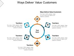 Ways Deliver Value Customers Ppt Powerpoint Presentation Inspiration Cpb