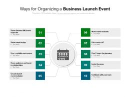 Ways For Organizing A Business Launch Event