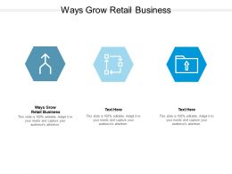 Ways Grow Retail Business Ppt Powerpoint Presentation Layouts Example Cpb