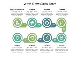 Ways Grow Sales Team Ppt Powerpoint Presentation Ideas Samples Cpb