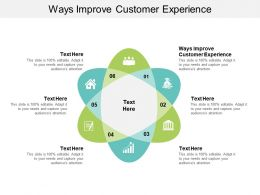 Ways Improve Customer Experience Ppt Powerpoint Presentation File Sample Cpb