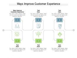 Ways Improve Customer Experience Ppt Powerpoint Presentation Model Sample Cpb