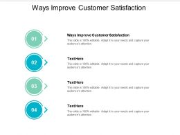 Ways Improve Customer Satisfaction Ppt Powerpoint Presentation Outline Visuals Cpb