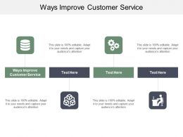 Ways Improve Customer Service Ppt Powerpoint Presentation Professional Graphic Tips Cpb
