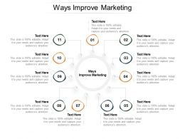 Ways Improve Marketing Ppt Powerpoint Presentation Styles Portrait Cpb