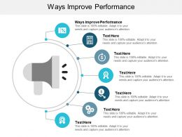 Ways Improve Performance Ppt Powerpoint Presentation Visual Aids Deck Cpb