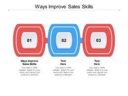 Ways Improve Sales Skills Ppt Powerpoint Presentation Icon Model Cpb