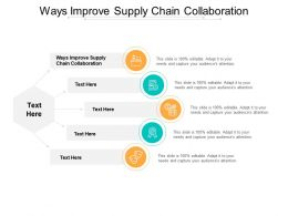 Ways Improve Supply Chain Collaboration Ppt Powerpoint Presentation Pictures Outline Cpb