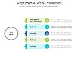 Ways Improve Work Environment Ppt Powerpoint Slides Introduction Cpb