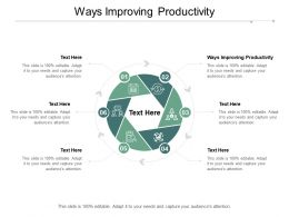 Ways Improving Productivity Ppt Powerpoint Presentation Outline Layout Ideas Cpb