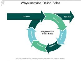 Ways Increase Online Sales Ppt Powerpoint Presentation Styles Images Cpb