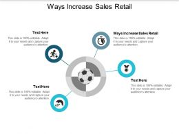 Ways Increase Sales Retail Ppt Powerpoint Presentation Outline Master Slide Cpb