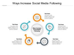 Ways Increase Social Media Following Ppt Powerpoint Presentation Infographics Cpb