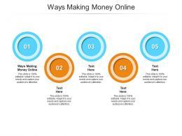 Ways Making Money Online Ppt Powerpoint Presentation Ideas Portfolio Cpb