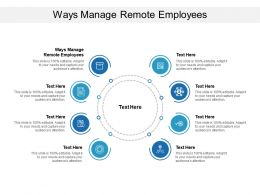 Ways Manage Remote Employees Ppt Powerpoint Presentation Ideas Cpb