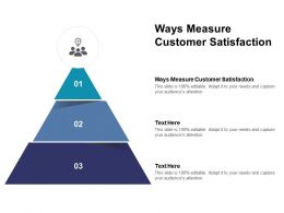 Ways Measure Customer Satisfaction Ppt Powerpoint Presentation Icon Slides Cpb