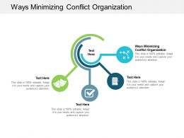 Ways Minimizing Conflict Organization Ppt Powerpoint Presentation Styles Graphics Cpb