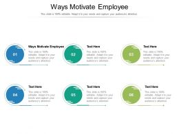 Ways Motivate Employee Ppt Powerpoint Presentation Icon Vector Cpb