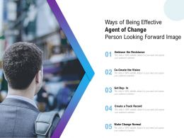 Ways Of Being Effective Agent Of Change Person Looking Forward Image