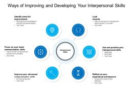 Ways Of Improving And Developing Your Interpersonal Skills