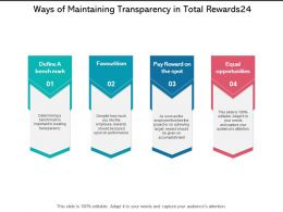 Ways Of Maintaining Transparency In Total Rewards