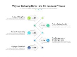 Ways Of Reducing Cycle Time For Business Process
