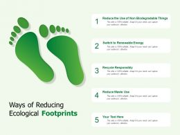 Ways Of Reducing Ecological Footprints